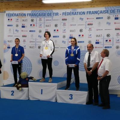 Cdgf 50m 2018 chateauroux podium 60b couché