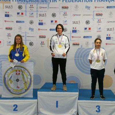 Cdgf 50m 2018 chateauroux podium 3x40